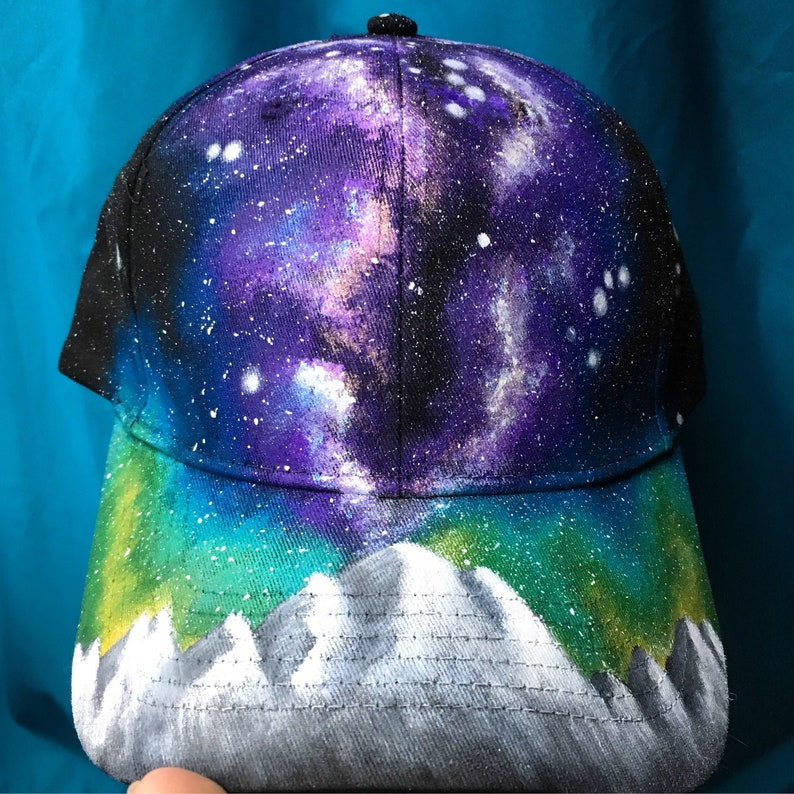 Galaxy Baseball Hat  Double Skyline Milky Way Forest image 0