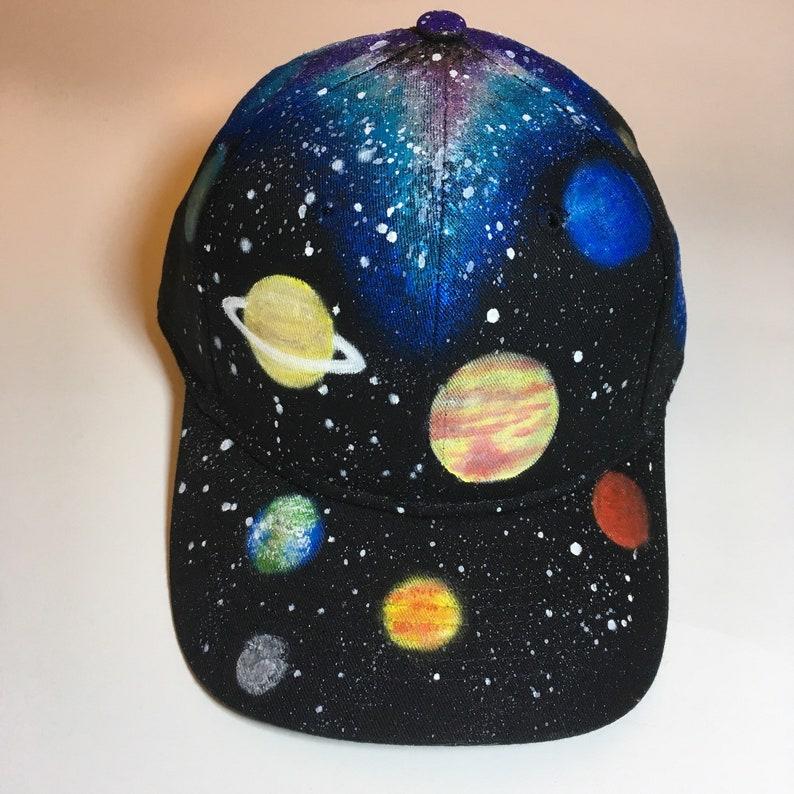 dd5efca9b0d Kids Galaxy Hat Custom Painted Milky Way Forest Desert