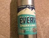 PEPSI-COLA EVERVESS Sparkling Water Cigarette Lighter by Kem, Mini Metal 1940s Soda Advertising Bottle