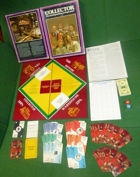 Vintage COLLECTOR Avalon Hill Bookshelf Board Game Complete
