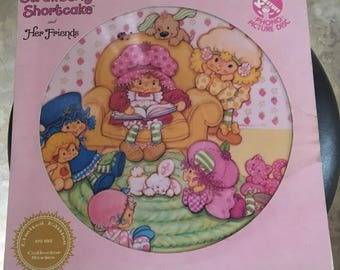 Strawberry Shortcake and Her Friends PHONO PICTURE Disc LP Vinyl Record by Kid Stuff Records 1981, Limited Edition Collector Series
