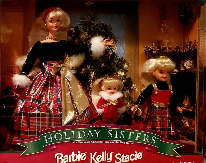 Vintage Barbie, Holiday Sisters - Barbie Kelly Stacie Gift Set - Special Edition 1998