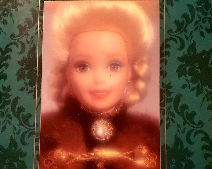 Vintage Barbie Holiday Caroler 1996 Barbie Doll Limited Edition Porcelain Mattel