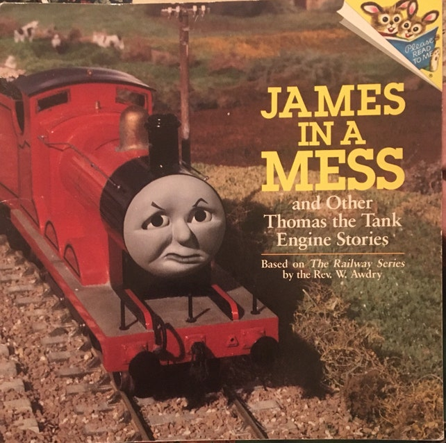 THOMAS the Tank Engine Story Book-JAMES In A Mess Vintage | Etsy