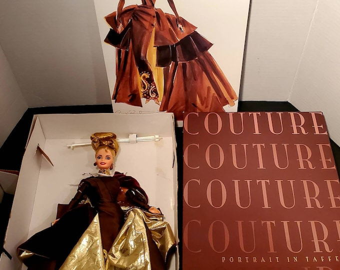 BARBIE COUTURE Portrait in Taffeta First In A Series. Collector Edition Doll 1996, Vintage Barbie Doll!