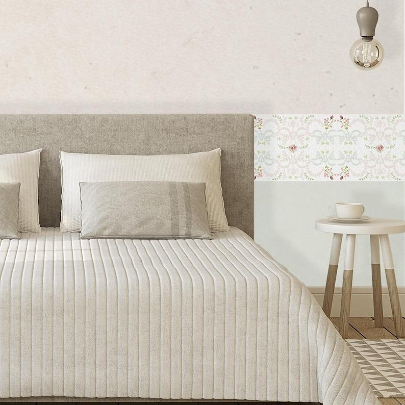 Sfondo stile francese, bianco sfondo bordo, bordo carta da parati, bordo  sfondo rimovibile, Camera da letto decoro, Auto adesivo Sfondo Bordo