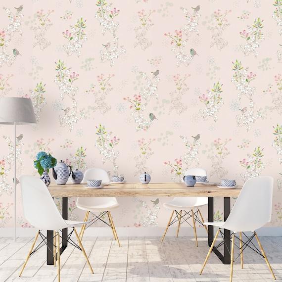 Japanische Tapete, Vögel Wallpaper, Schlafzimmer Tapete, selbst  Wand-Aufkleber, Peel & Stick Tapete, Wand-Dekor, abnehmbare Wandbild