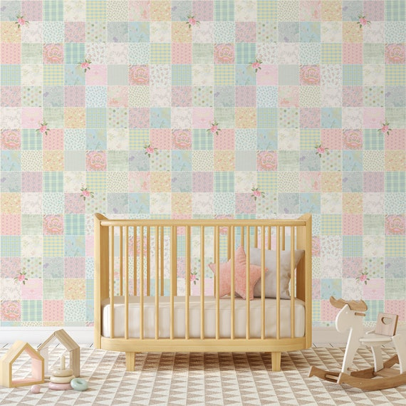 Nursery Wallpaper Baby Nursery Wallpaper Girls Nursery Wallpaper Wallpaper For Girls Room Self Adhesive Wallpaper Removable Wall Mural