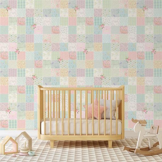 Kinderzimmer Tapete, Baby Kinderzimmer Tapete, Mädchen Kinderzimmer Tapete,  Tapete für Mädchen Zimmer, selbst selbstklebende Tapete, abnehmbare ...