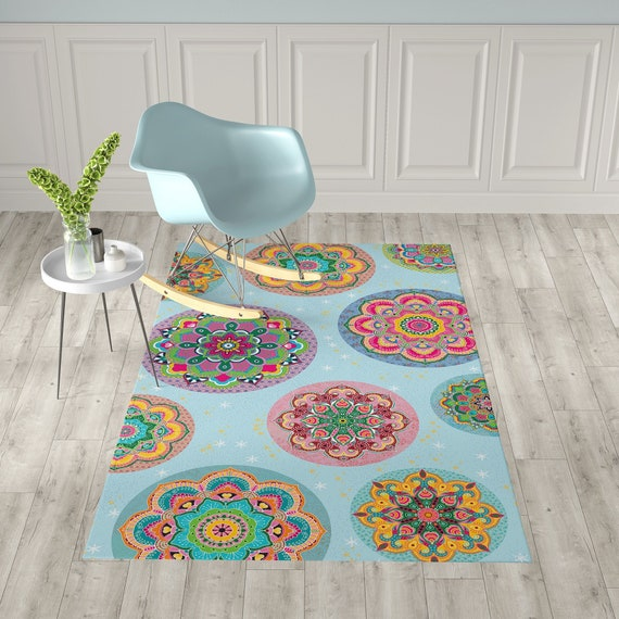 Mandala Vinyl Floor Mat Chair Mat Non Slip Mat Unique Etsy