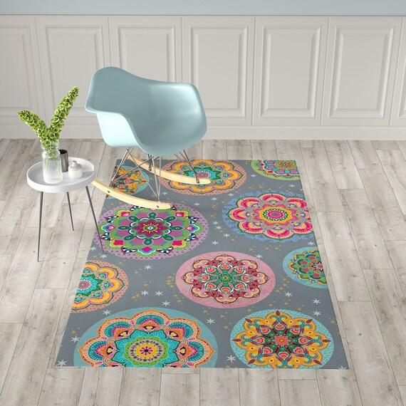 Boden Vinyl Teppich, Mandala Küche Teppich, Linoleum bunten Teppich,  Badezimmermatte, Pvc Teppich, Küche Dekor, innen Fußmatte, Haustier Teppiche