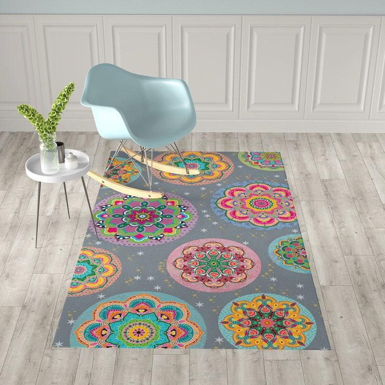 Favorit Boden Vinyl Teppich Mandala Küche Teppich Linoleum bunten | Etsy FV34