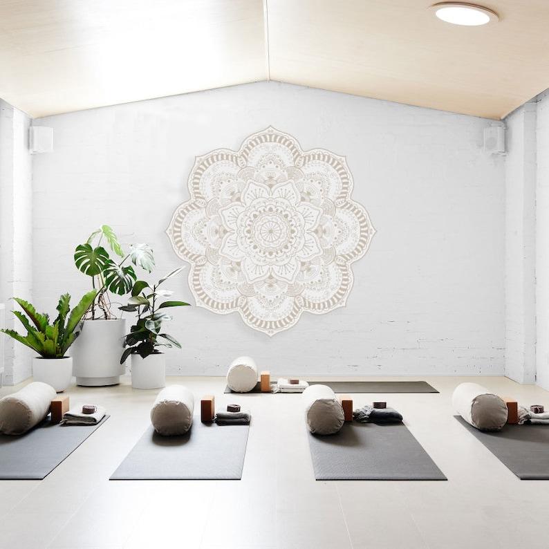 Yoga Studio Design Large Mandala Sticker Vinyl Wall Decal Etsy