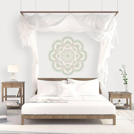 Mandala Stencil For Bedroom, Big Mandala Wall Decal, Spiritual Wall Art,  Wall Decor, Mandala Wall Sticker, Vinyl Wall Decal, Bedroom Decor