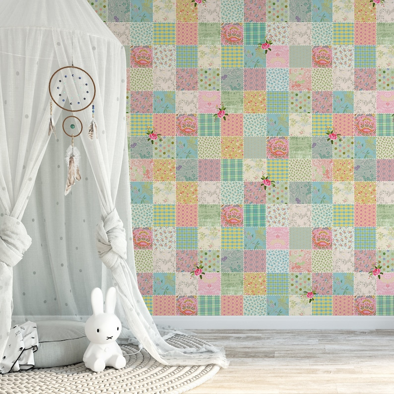 Self Adhesive Wallpaper, Nursery Wallpaper, Baby Room Wallpaper, Girls  Nursery Wallpaper, Girls Bedroom Wall Mural, Removable Wall Decals