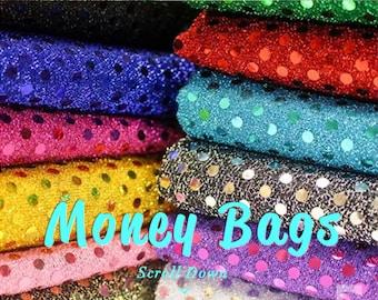 XL Sequins Money Bags