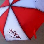 Zombie Apocalypse Painted Umbrella