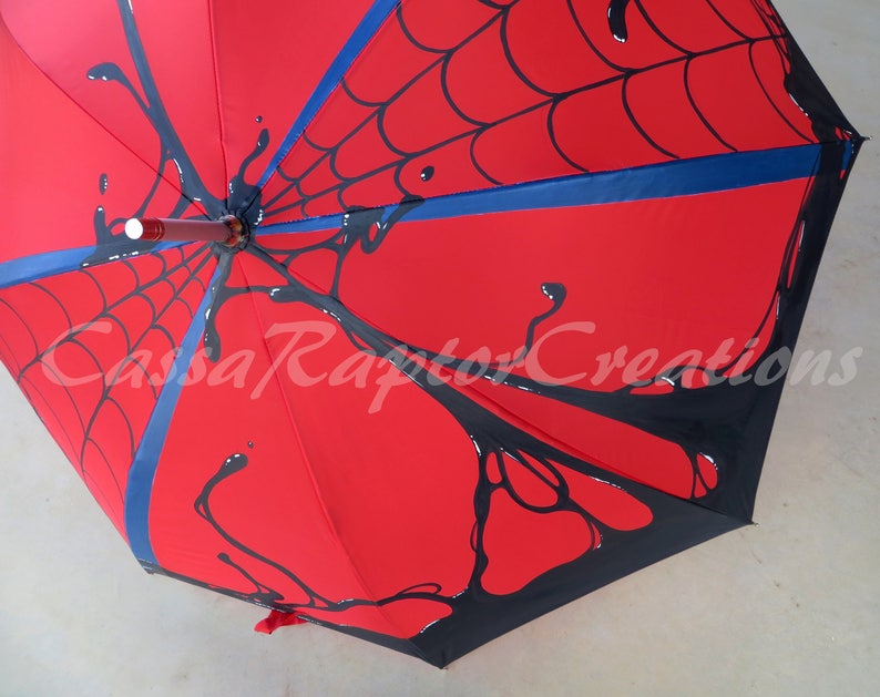 Venomous Spidey Painted Umbrella image 0