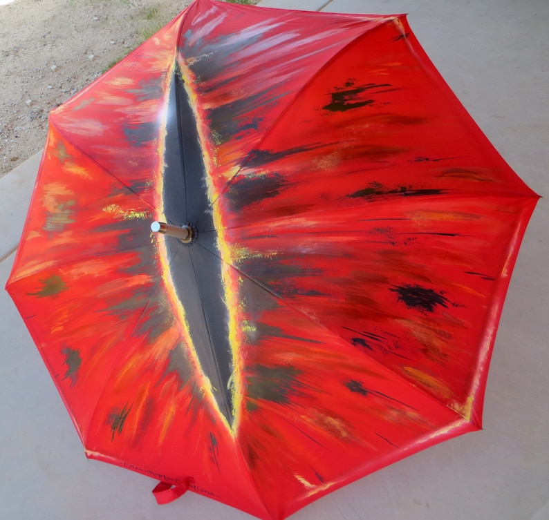 Eye of Sauron Painted Umbrella image 0
