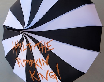 Pumpkin King Nightmare B4 Xmas Inspired Painted Umbrella CLEARANCE