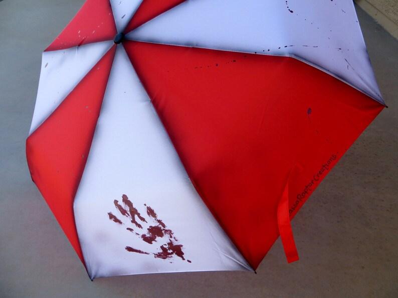 Zombie Apocalypse Painted Umbrella image 0