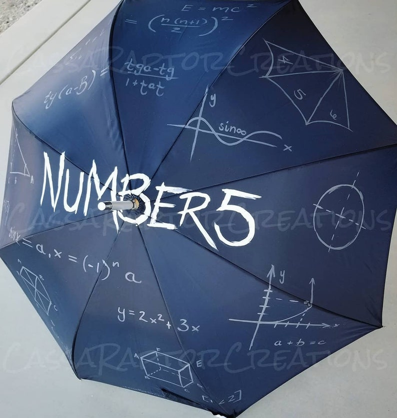 Number 5 Painted Umbrella Academy or Parasol image 0