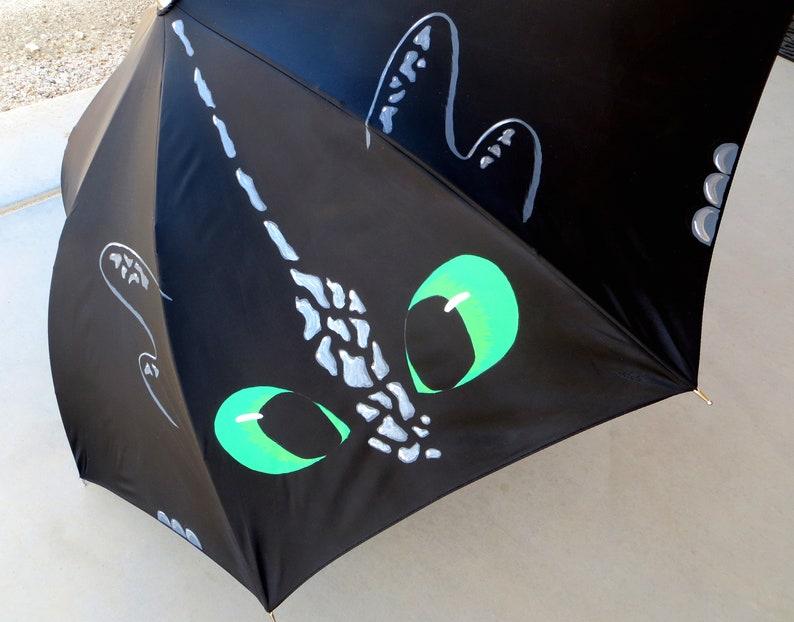 Toothless Painted Umbrella image 0