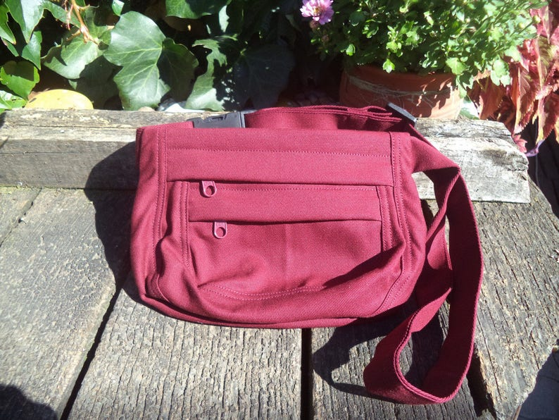 Claret canvas fanny pack,belt bag,hip bag
