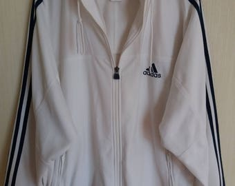 Adidas white jacket | Etsy