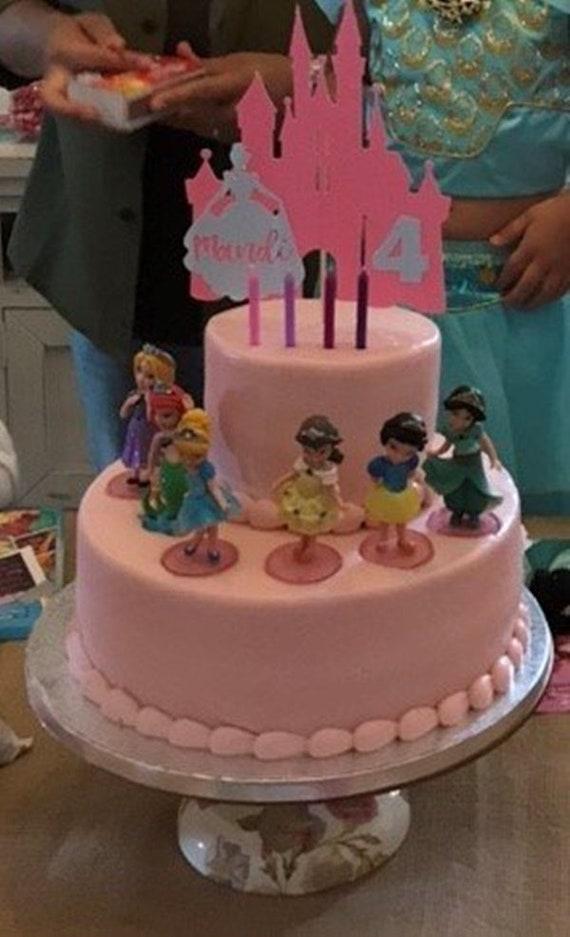 Disney Princess Set Of 6 3 1 2 Birthday Cake Topper Figurines Toy