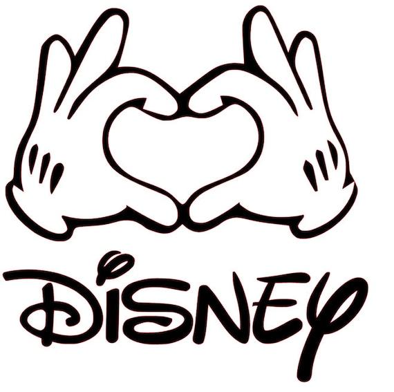 Download SVG File of Love Disney Hands | Etsy