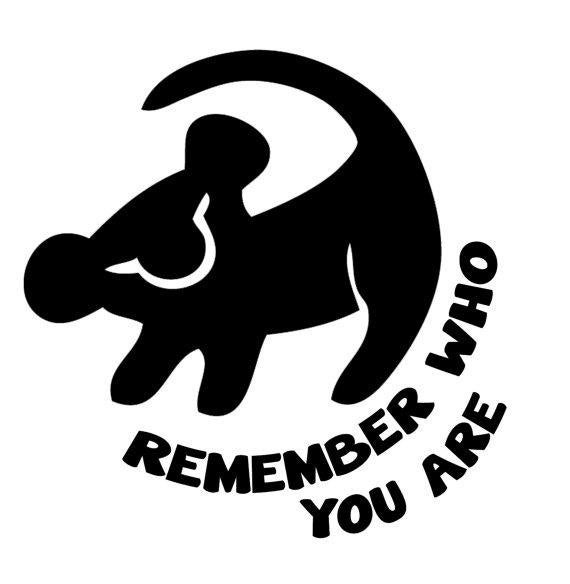 Svg File Of Simba Remember Who You Are Disney The Lion King Etsy