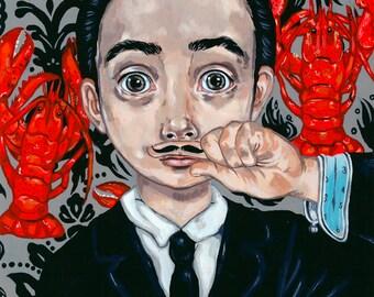 Poster tribute young Salvador Dali
