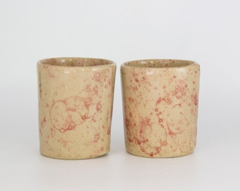 2 Piece Set - Handmade Ceramic Mugs / Tumblers