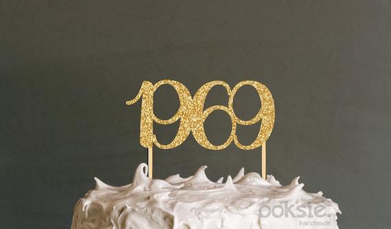 Marvelous 50Th Birthday Cake Topper 1969 Fiftieth Birthday Cake Topper Etsy Funny Birthday Cards Online Drosicarndamsfinfo