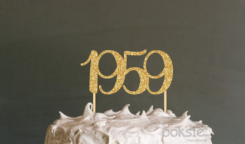 1959 60th Birthday Cake Topper Sixtieth
