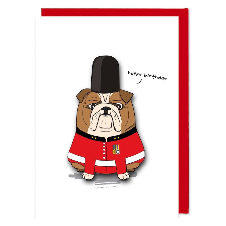 Handmade Happy Birthday British Bulldog Card | Etsy