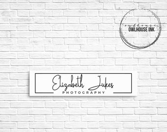 Premade Logo Design / Minimalist Logo/ Photographer Logo / Rectangle Logo / Photography Logo / Business Logo / Watermark/ 134b