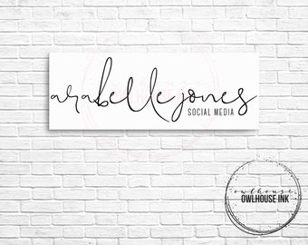 Premade Logo Design / Minimalist Logo/ Photographer Logo / Watercolor Logo / Photography Logo / Business Logo / Watermark/ 124
