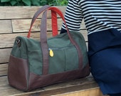 we made too many! 40% off weekender bag, overnight bag for men or women - the DEKALB canvas duffel bag with shoulder strap