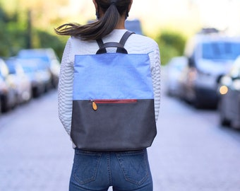 canvas backpack & travel backpack, birthday gift for her - the MONTGOMERY (2 colors)