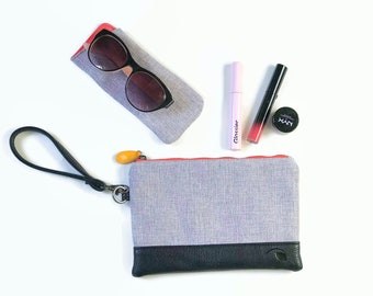 phone wallet + sunglasses case, gift set for her, vegan gifts  - the GOWANUS clutch and HOYT glasses holder