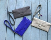 minimalist wallet, thin wallet, cash envelope wallet - the DELANCEY womens wallet in 3 colors