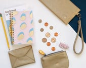 small wallets for women, wristlet + card case + coin pouch, slim wallet, cash envelope wallet, chic birthday gift set