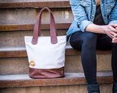 minimalist tote bag, tote bag with zipper, laptop tote bag - the BERGEN vegan purse in 3 colors