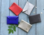 stocking stuffers for women, slim wallet, card holder wallet, gift for wife - the SMITH business card holder