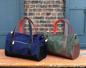 weekender bag, mens duffle bag, overnight bag for men - the DEKALB canvas weekender bag with shoulder strap