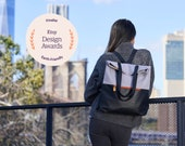 convertible backpack purse & canvas tote bag  - GREENPOINT laptop backpack