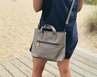 crossbody bag in vegan leather, crossbody purse, satchel bag - the ATLANTIC (3 colors)