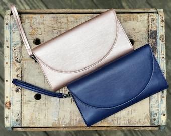 passport wallet, wristlet, minimalist wallet - the CLARK travel wallet